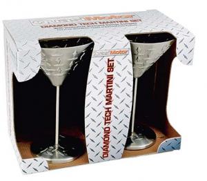 Diamond Plate Martini Glasses
